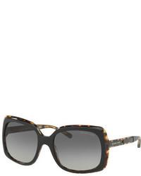 Michael Kors Michl Kors Square Plastic Logo Temple Sunglasses