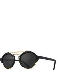 Illesteva Milan Ii Semi Rimless Round Polarized Sunglasses