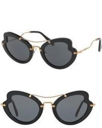 Miu Miu 52mm Curved Cats Eye Sunglasses