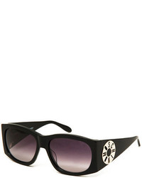 Moschino Monochromatic Logo Disc Oval Sunglasses