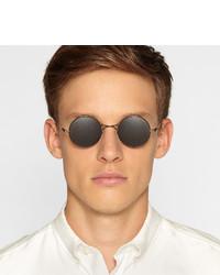 d851fa810e ... Maison Martin Margiela Mykita Round Frame Metal Sunglasses