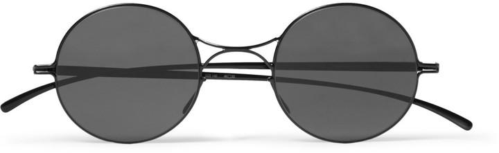 c1a47beb94 ... Maison Martin Margiela Mykita Round Frame Metal Sunglasses ...