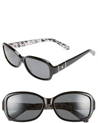 Kate Spade New York 55mm Polarized Sunglasses Black Grey Polar