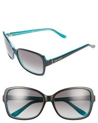 Kate Spade New York Ailey 58mm Two Tone Sunglasses Black Turquoise