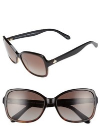 Kate Spade New York Ayleen 56mm Polarized Sunglasses Black Havana
