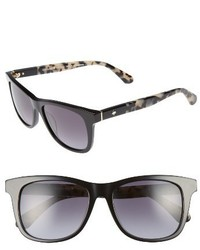 Kate Spade New York Charmine 53mm Gradient Lens Sunglasses Black Havana