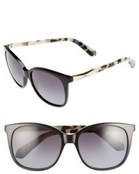 Kate Spade New York Julieanna 54mm Polarized Sunglasses Black Havana