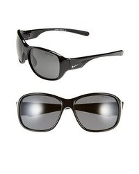 Nike Exhale 59mm Sunglasses Black One Size