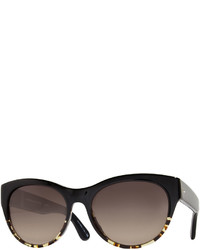 Oliver Peoples Mande 55 Two Tone Retro Cat Eye Sunglasses Blackhavana