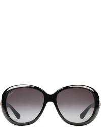 Gucci Oval Frame Horsebit Sunglasses