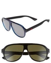 Gucci Oversize 59mm Sunglasses Black Green