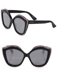 Gucci Oversize Crystal Trim Eye Sunglasses