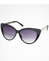 Cat Eye Oversized Metal Arm Sunglasses