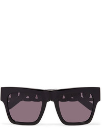 Stella McCartney Oversized Square Frame Acetate And Gold Tone Sunglasses Black