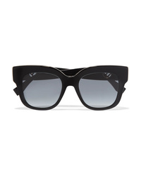 Fendi Oversized Square Frame Acetate Sunglasses