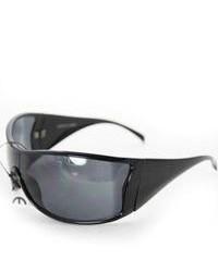 Overstock P1317 Black Shield Sunglasses