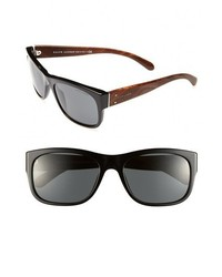 Polo Ralph Lauren 57mm Sunglasses Black Brown One Size