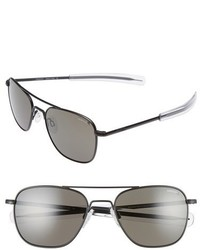 Randolph Engineering 55mm Polarized Aviator Sunglasses Matte Black