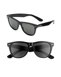 Ray-Ban Classic Wayfarer 50mm Polarized Sunglasses Black Polarized None