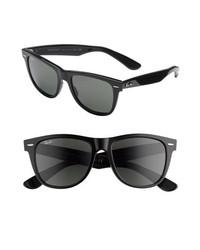 Ray-Ban Classic Wayfarer 50mm Polarized Sunglasses Black Polarized None