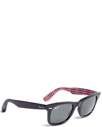 Brooks Brothers Ray Ban Wayfarer Sunglasses With Gingham