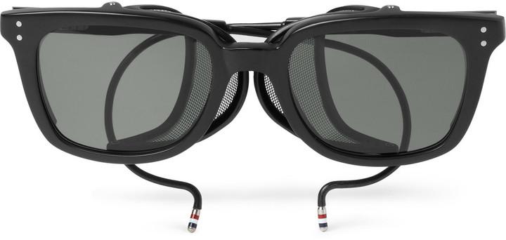 91f6dc99cd08 Thom Browne Rectangle Frame Acetate Sunglasses, $800 | MR PORTER ...