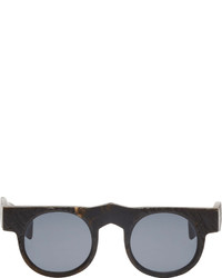 Rigards Black Textured Horn Rg0065 Sunglasses
