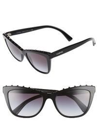 Valentino Rockstud 54mm Cat Eye Sunglasses Black Gradient