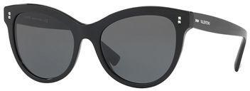 Valentino Rockstud Rivet Monochromatic Cat Eye Sunglasses