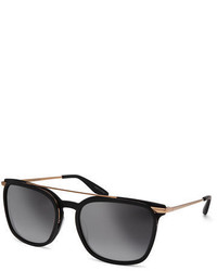 Barton Perreira Ronson Polarized Rectangular Top Bar Sunglasses