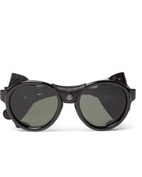 Moncler Round Frame Acetate Polarised Sunglasses