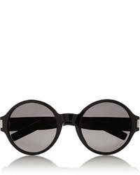 Saint Laurent Round Frame Acetate Sunglasses