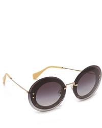 Miu Miu Round Leopard Sunglasses