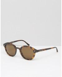 Giorgio Armani Round Sunglasses Tortishell
