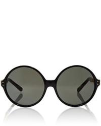 Linda Farrow Round Sunglasses With Titanium Cage Detailing