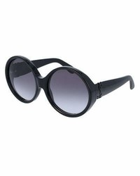 Saint Laurent Round Chunky Gradient Sunglasses Black