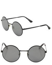 Saint Laurent Sl 136 Zero 52mm Round Sunglasses