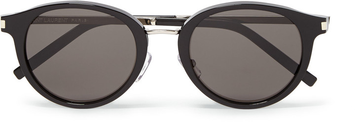95421c85650 ... Saint Laurent Sl57 Round Frame Acetate Sunglasses ...