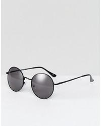 Asos Small 90s Metal Round Sunglasses