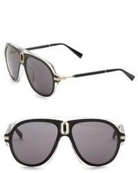 Balmain Smoke Tint 57mm Aviator Sunglasses