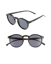 Le Specs Spirit Deaux 50mm Round Sunglasses