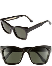 Spitfire 53mm Retro Sunglasses Black Dark Green