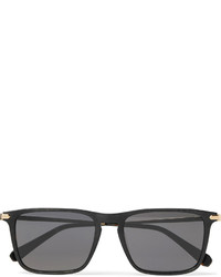 Brioni Square Frame Acetate And Gold Tone Sunglasses
