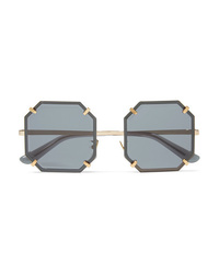 Dolce & Gabbana Square Frame Gold Tone Sunglasses
