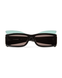 Courreges Square Frame Layered Acetate Sunglasses