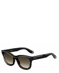 Givenchy Square Metal Trim Sunglasses