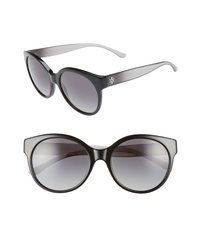 Tory Burch Stacked T 55mm Round Sunglasses