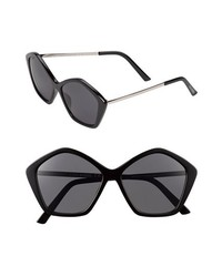 Steve Madden 56mm Sunglasses Black One Size