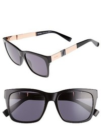 Max Mara Stone 54mm Gradient Sunglasses Black Red Gold