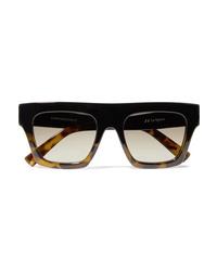 Le Specs Subdiion D Frame Tortoiseshell Acetate Sunglasses